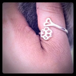 🐾Silver plated I <3 cats ring
